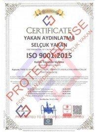 ISO 9001-2015 Yakan Aydınlatma Selçuk Yakan