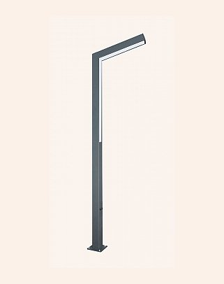 87070 - Modern High Garden Lighting Poles