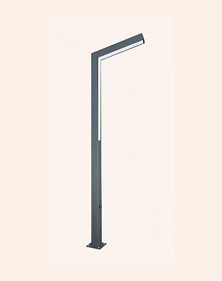87070 - Modern High Garden Lighting Poles